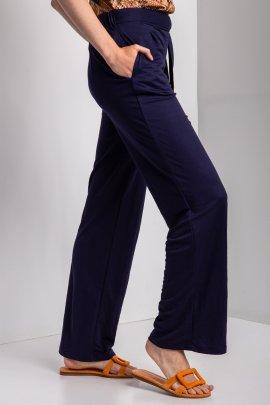 Широкі брюки з трикотажу