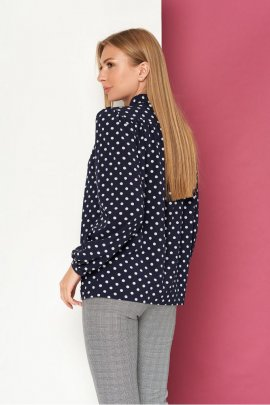 Блуза в горох з бантом