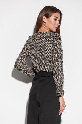 Легка блуза з принтованої тканини