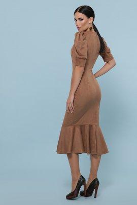 Сукня-футляр з замши
