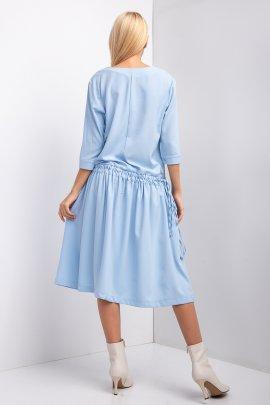 Стильна сукня з затяжкою на талії