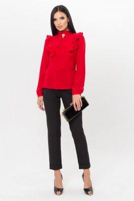 Блуза з брошкою