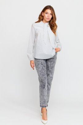 Блуза з стрейч-бавовни