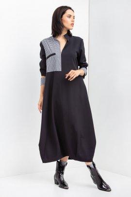 Сукня oversize з принтованою вставкою