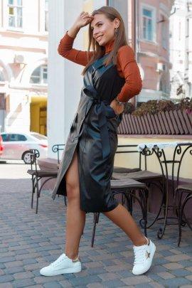 сукня-жилет з екошкіри