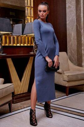 Сукня з ангори з розрізами