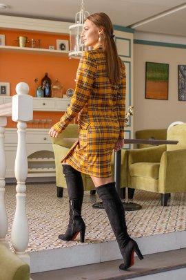 Сукня-піджак в клітинку