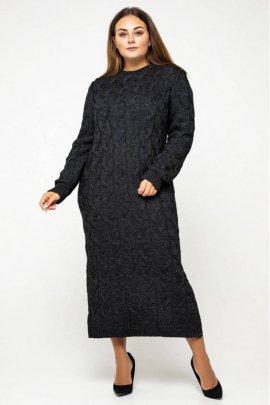 Довга в'язана сукня