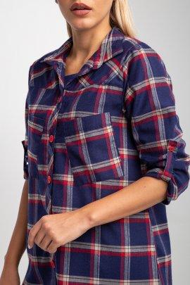 Бавовняна сорочка в клітку