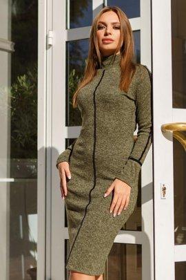 Сукня з оксамитової стрічкою