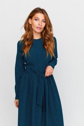 Сукня-макси в горошок