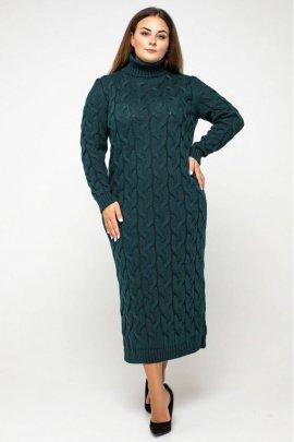 В'язана сукня батал високе горло