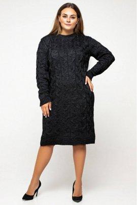 Укорочена в'язана сукня size+