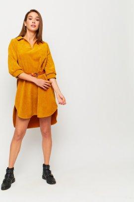 Сукня-трапеція з вельвету