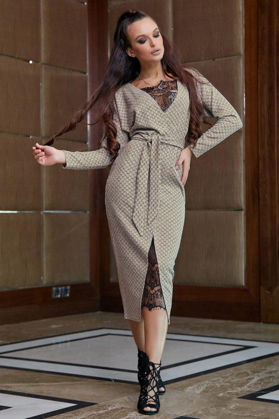 Коктейльне плаття-халат