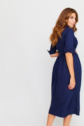 Сукня-джинс довжини міді