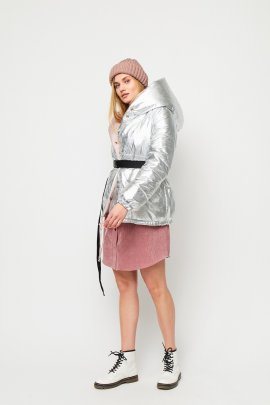 Коротка зимова куртка металік