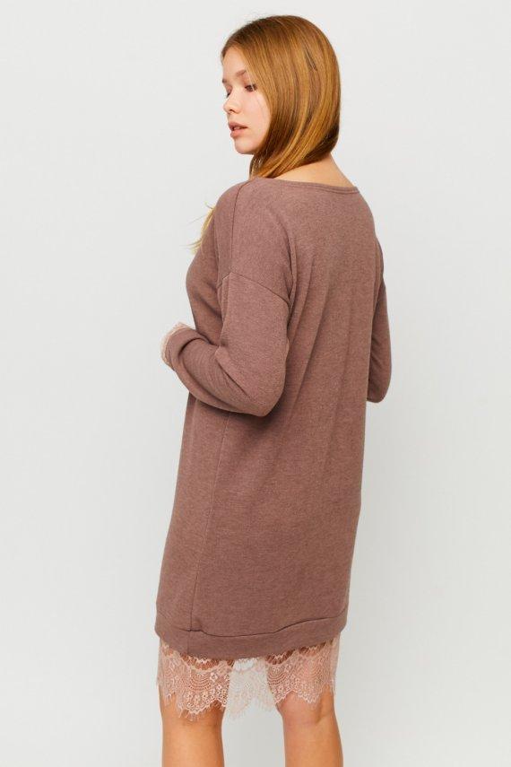 Сукня з ангори з мереживом