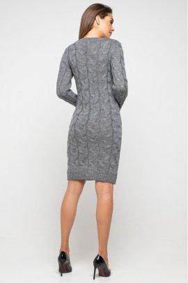 Укорочена в'язана сукня