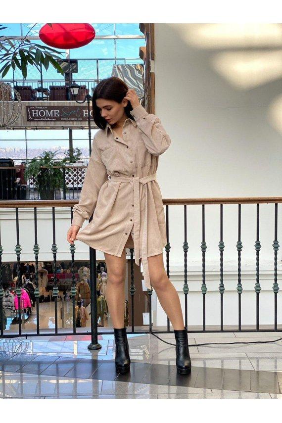 Вельветова сукня-сорочка