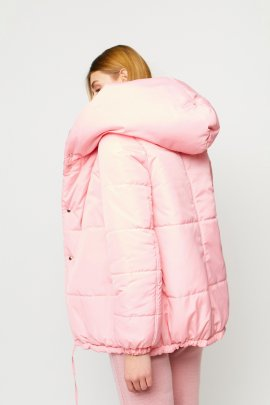 Короткая зимняя куртка металик