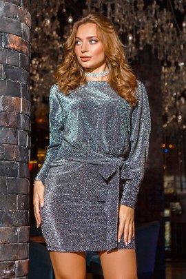 Новорічна сукня-міні люрекс