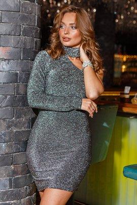 Сукня-міні люрекс
