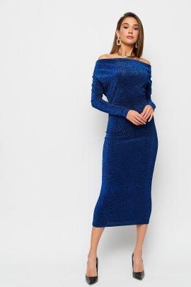 Коктейльное платье миди из люрекса