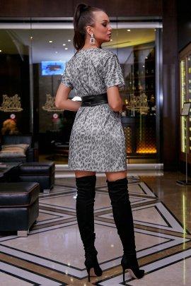 Коктейльна сукня леопард з блиском