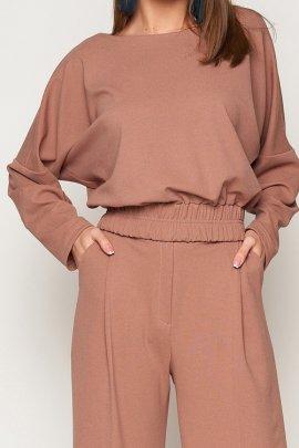 Блуза-боди из замша