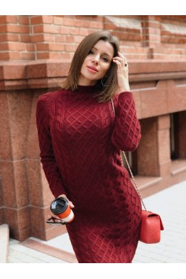 В'язана сукня ажурна
