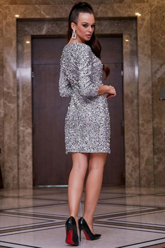Розкішна сукня з паєток