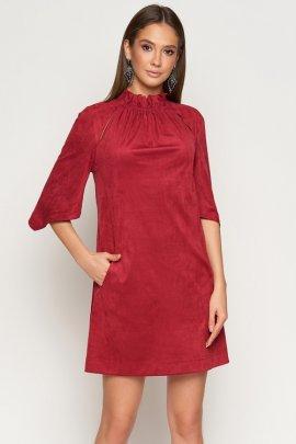 Сукня з еко-замші