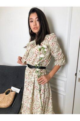 Нежное платье с принтом
