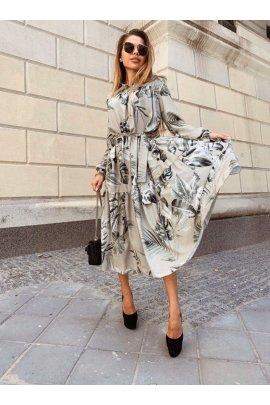 Плаття на запах з принтом