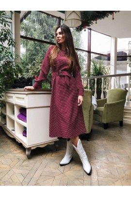 Силуетна сукня в горох