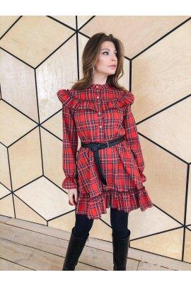 Стильна сукня в клітку