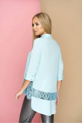 Асиметрична блуза з гіпюрними вставками