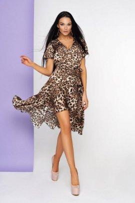 Шовкова леопардова сукня