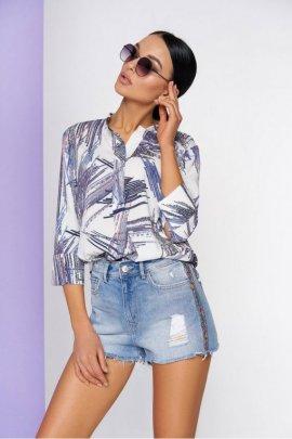 Блуза з абстрактним принтом