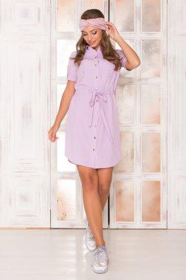 Платье-рубашка с короткими рукавами