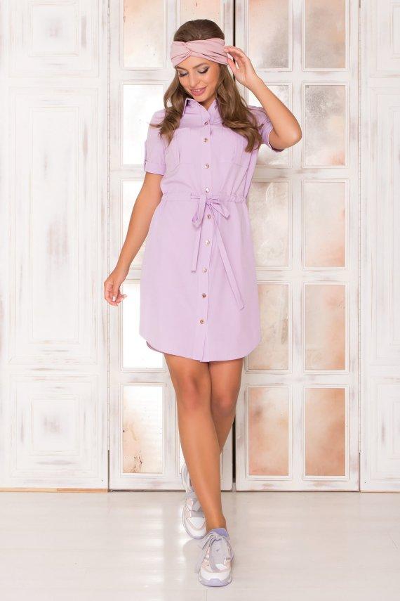 Cукня-сорочка з короткими рукавами