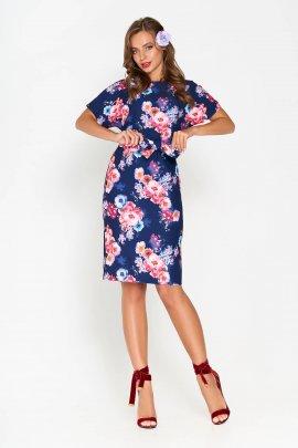 Квіткова сукня з V-вирізом на спинці