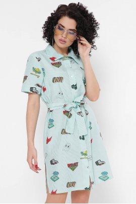 Сукня-сорочка в смужку Pop-art