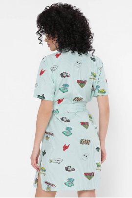 Платье-рубашка в полоску Pop-art