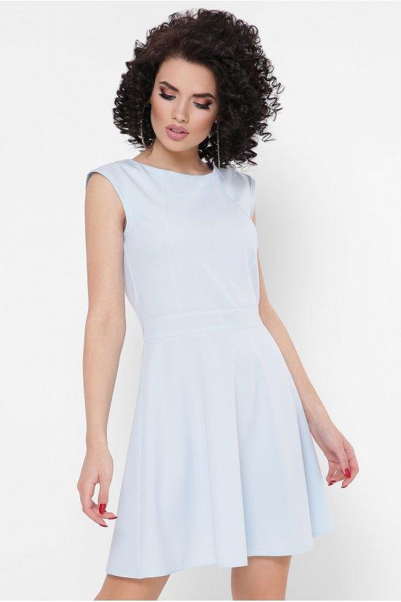 Сукня в горох з вирізом на спинці