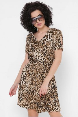 Стильний сарафан з принтом леопард