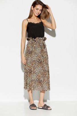 Леопардовая спідниця міді