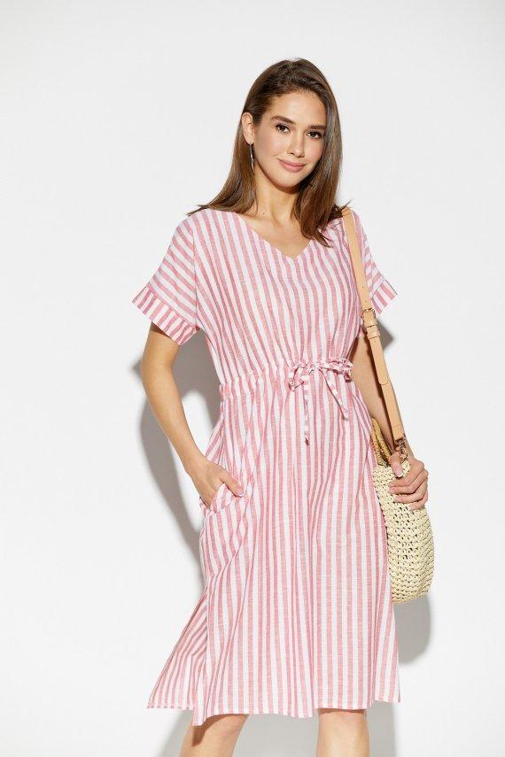 Сукня з льону в смужку