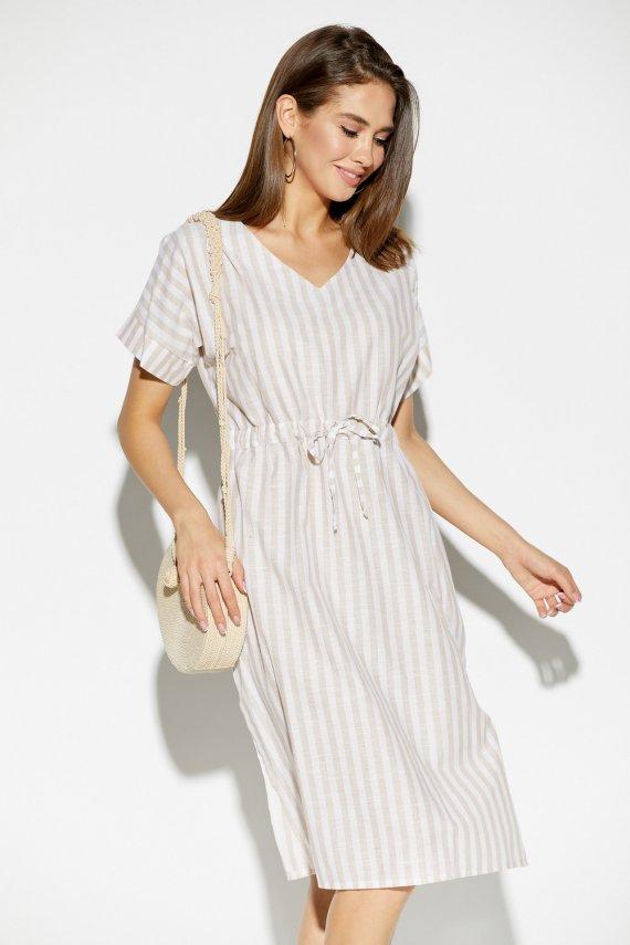 Платье из льна в полоску